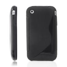 Ochranný gumový kryt S line pro Apple iPhone 3G / 3GS - černý
