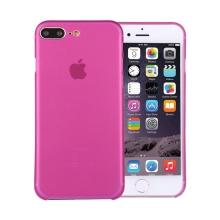 Kryt / obal pro Apple iPhone 7 Plus / 8 Plus ochrana čočky - plastový / tenký - růžový