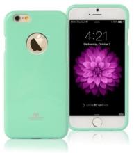 Kryt Mercury pro Apple iPhone 6 Plus / 6S Plus gumový s výřezem pro logo - jemně třpytivý - světle zelený