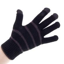 Rukavice pro ovládání dotykových zařízení - pruhované šedé