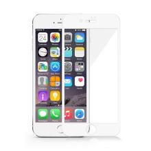 Tvrzené sklo (Tempered Glass) DEVIA pro Apple iPhone 7 Plus / 8 Plus - na přední stranu - 2,5D hrana - bílý rámeček - 0,33mm