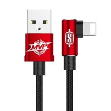 Synchronizační a nabíjecí kabel BASEUS MVP - lomená koncovka Lightning - červený - 1m