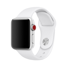 Řemínek pro Apple Watch 40mm Series 4 / 38mm 1 2 3 - velikost M / L - silikonový - bílý
