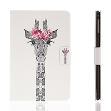 Pouzdro / kryt pro Apple iPad mini 4 - integrovaný stojánek a prostor na doklady - žirafa