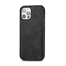 Kryt pro Apple iPhone 12 Pro Max - Magsafe - plastový / umělá kůže - černý