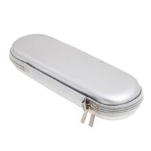 Pouzdro pro Apple Pencil - zapínání na zip - přihrádka na kabely a hroty - stříbrné