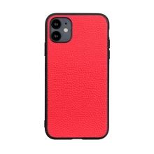 Kryt pro Apple iPhone 12 mini - plastový / umělá kůže - červený