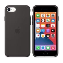 Originální kryt pro Apple iPhone 7 / 8 / SE (2020) - silikonový - černý