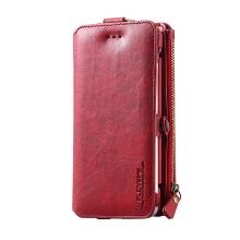 Pouzdro / peněženka FLOVEME pro Apple iPhone 6 / 6S / 7 / 8 - umělá kůže - červené