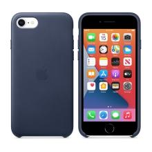Originální kryt pro Apple iPhone 7 / 8 / SE (2020) - kožený - půlnočně modrý