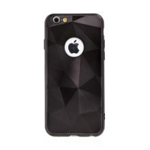 Kryt pro Apple iPhone 6 / 6S - geometrické tvary - výřez pro logo - černý