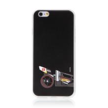 Kryt HOT WHEELS - pro Apple iPhone 6 / 6S - gumový - formule - černý