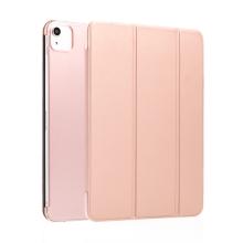"""Pouzdro / kryt pro Apple iPad Pro 11"""" (2018) / 11"""" (2020) - funkce chytrého uspání + stojánek - Rose Gold / průsvitná záda"""