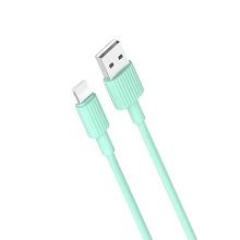 Synchronizační a nabíjecí kabel XO Lightning pro Apple iPhone / iPad - 1m - zelený