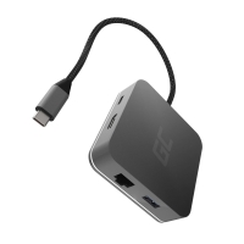 Dokovací stanice / port replikátor 6v1 - USB-C na USB-C + HDMI + 3x USB 3.0 + gigabit ethernet