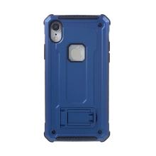 Kryt pro Apple iPhone Xr - odolný - plastový / gumový - se stojánkem - modrý