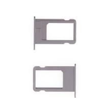 Rámeček / šuplík na Nano SIM pro Apple iPhone 6 - vesmírně šedý (Space Gray) - kvalita A+