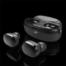 Sluchátka Bluetooth bezdrátová - True wireless - s dobíjecí krabičkou / pouzdrem -  špunty - černá