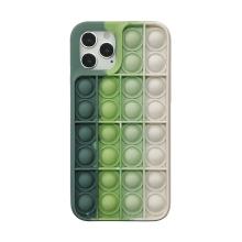 """Kryt pro Apple iPhone 12 / 12 Pro - bubliny """"Pop it"""" - silikonový - bílý / zelený"""