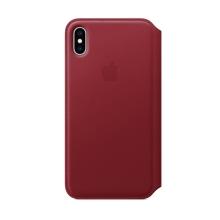 Originální pouzdro Apple Folio pro Apple iPhone Xs Max - kožené - červené