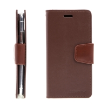 Pouzdro MERCURY Sonata Diary pro Apple iPhone X / Xs - stojánek a prostor na doklady - hnědé