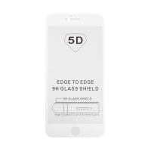 "Tvrzené sklo (Tempered Glass) ""5D"" pro Apple iPhone 6 Plus / 6S Plus - 2,5D - bílý rámeček - čiré - 0,3mm"