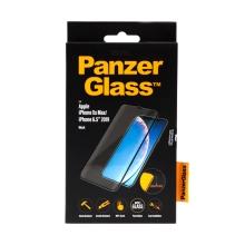 Tvrzené sklo (Tempered Glass) PANZERGLASS pro Apple iPhone Xs Max / 11 Pro Max - 3D hrana - černé - 0,4mm