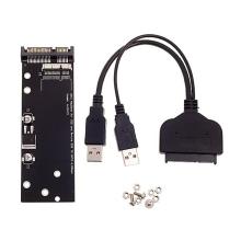 Redukce / čtečka SSD disků 7+17pin pro Apple MacBook Air / Pro na SATA 22pin s USB + adaptér SATA / USB 3.0