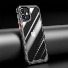 Kryt pro Apple iPhone 12 mini - plastový / gumový - přesné výřezy fotoaparátu - černý