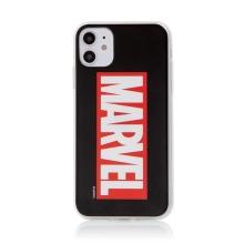 Kryt MARVEL pro Apple iPhone 11 - gumový - černý / červený