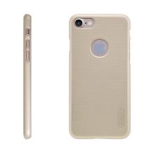 Kryt Nillkin pro Apple iPhone 7 / 8 plastový / jemná povrchová struktura, výřez pro logo - zlatý (Gold) + ochranná fólie