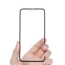 Tvrzené sklo (Tempered Glass) AMORUS pro Apple iPhone Xr / 11 - přední - černý rámeček - 2,5D hrana - 0,33mm