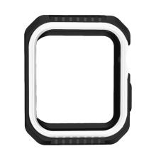 Kryt / pouzdro pro Apple Watch 44mm Series 4 / 5 / 6 / SE- celotělové - plast / silikon - černý / bílý