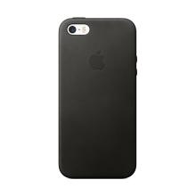 Originální kryt pro Apple iPhone 5 / 5S / SE - kožený - černý