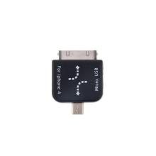 Redukce - mini USB na 30pin konektor a mini USB na micro USB - černá