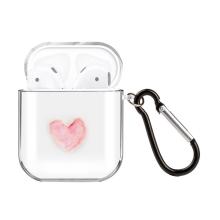 Pouzdro / obal pro Apple AirPods - gumové - růžové srdce