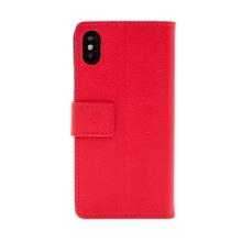 Pouzdro pro Apple iPhone X - stojánek + prostor pro platební karty - červené
