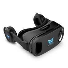 Virtuální brýle UGP U8 VR 3D IMAX + sluchátka - černé