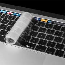 Kryt klávesnice ENKAY pro Apple MacBook Pro Retina 15,4 / 13,3 (rok 2016) s Touchbarem - EU verze - silikonový - průhledný