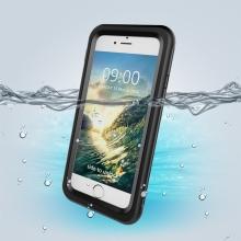 Pouzdro pro Apple iPhone 7 / 8 / SE (2020) - voděodolné - outdoor - plast / guma - černé / průhledné