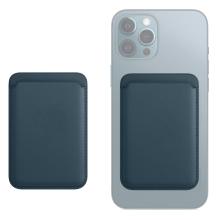 Pouzdro na platební karty s MagSafe uchycením pro Apple iPhone - umělá kůže - modré