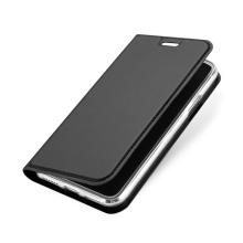 Pouzdro DUX DUCIS pro Apple iPhone X - stojánek + prostor pro platební kartu - šedé