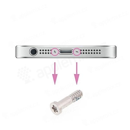 Náhradní šroubek na spodní část Apple iPhone 5S - stříbrný - kvalita A+