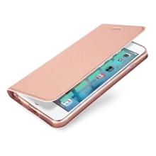 Pouzdro DUX DUCIS pro Apple iPhone 6 / 6S - stojánek + prostor pro platební kartu - Rose Gold růžové