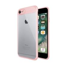 Kryt NXE pro Apple iPhone 6 / 6S - plastový / gumový - průhledný / růžový