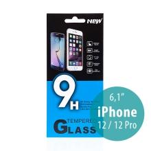 Tvrzené sklo (Tempered Glass) pro Apple iPhone 12 / 12 Pro - na přední stranu - 0,33mm