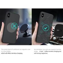 Kryt NILLKIN pro Apple iPhone Xs Max- vestavěné magnety pro držák do auta / bezdrátovou nabíječku Qi NILLKIN - gumový - černý