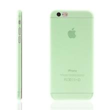 Ultra tenký plastový kryt pro Apple iPhone 6 / 6S - s prvkem pro ochranu skla kamery - zelený
