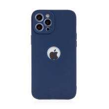 Kryt FORCELL Soft pro Apple iPhone 12 Pro Max - gumový - s výřezem pro logo - tmavě modrý