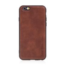 Kryt pro Apple iPhone 6 / 6S - umělá kůže / gumový - hnědý